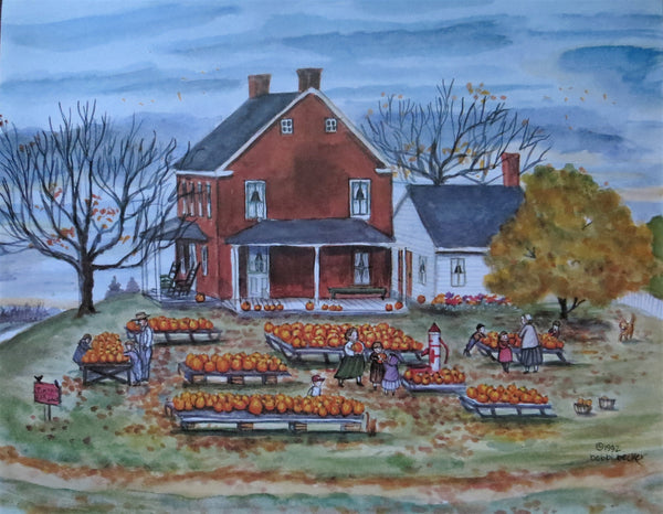 """Pumpkins For Sale"" 11x14"