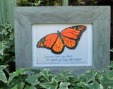 """Monarch Butterfly with Saying"" 5x7"