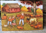 Pumpkins, Pumpkin Pickers, Pumpkin field, Fall decor, black cat, dog, Fall print