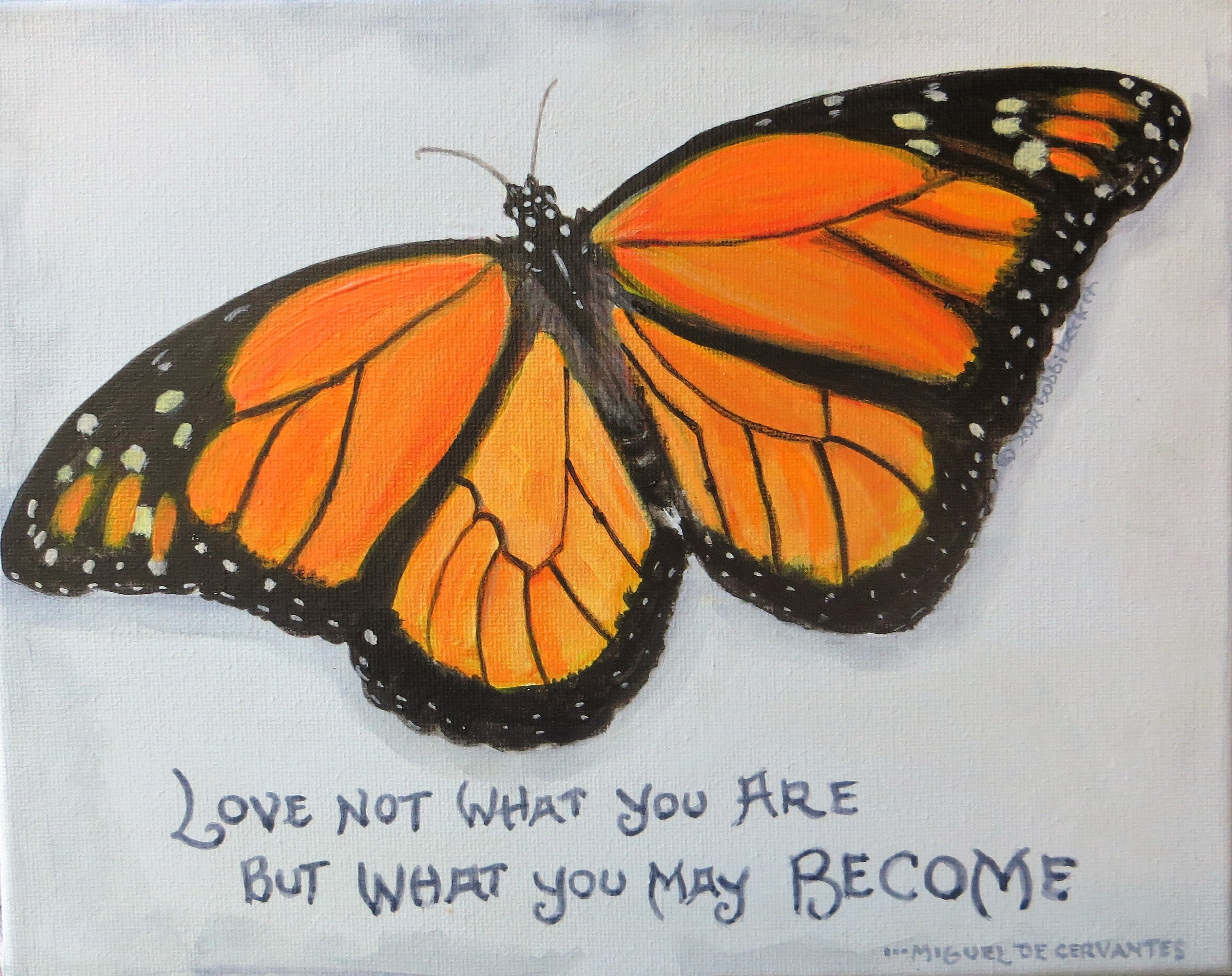 Monarch Butterfly, Butterfly print, bobbi becker, quotes about life print,