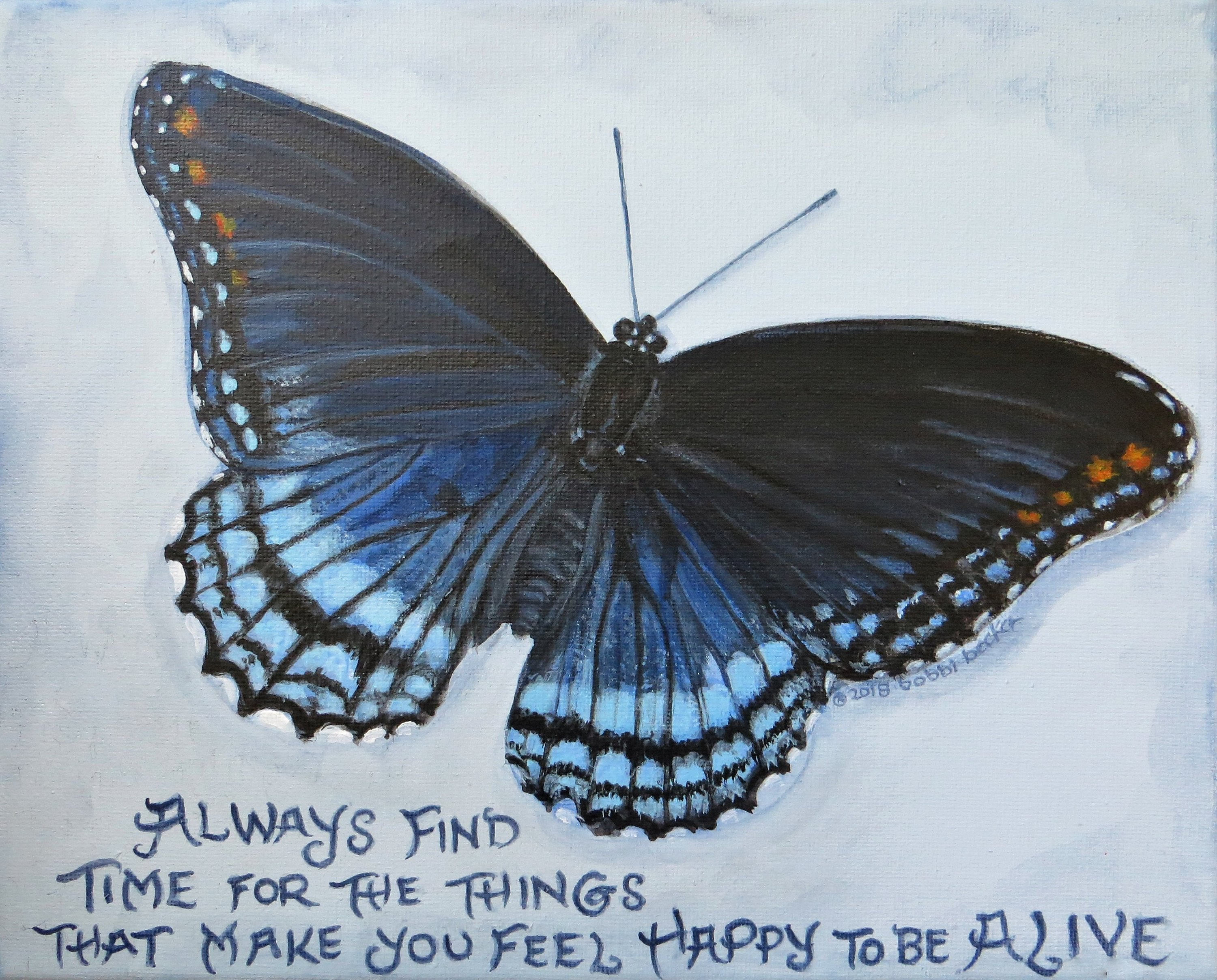 Black Butterfly, Butterfly, great quote, bobbi becker print, nature decor