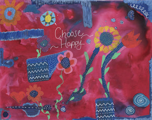 Choose Happy Archival Giclee Print