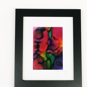 "SOLD OUT Sweet Kiss 8""x10"" Alcohol Ink Art"