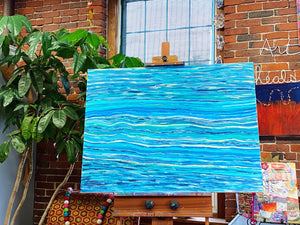 "Pisces Lover 40"" x30"" Original Painting on Canvas"