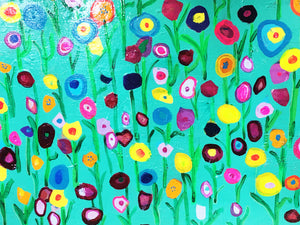 "Floral Joy  24""x30"" Original Painting on Canvas"
