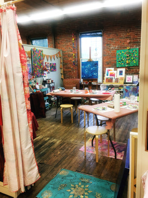 Sat Sept 21 Intuitive Painting & Meditation with Guest Psychic Medium Jamie Day