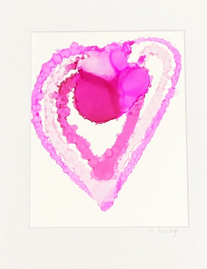 "Original Love is Love 11""x14"" Alcohol Ink Art on Yupo Paper"
