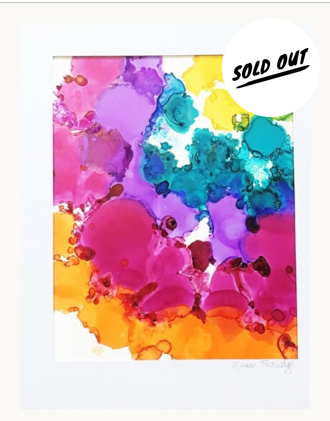 SOLD OUT Rainbow Joy Alcohol Ink Art on Yupo Paper