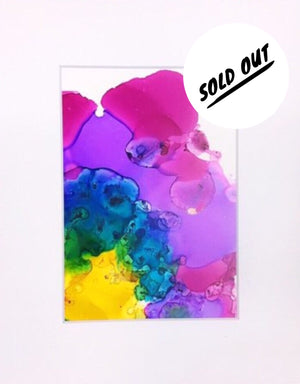 SOLD OUT Rainbow Splash Alcohol Ink