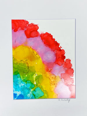 "SOLD OUT After the Storm 9""x12"" Alcohol Ink on Yupo Paper"