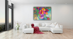 "Rainbow Bliss 24""x36"" Original Painting on Canvas"