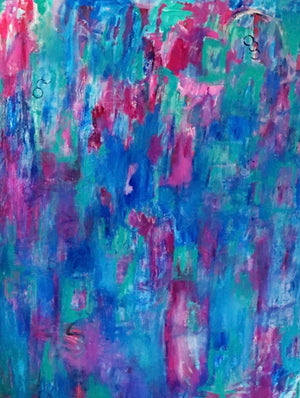 "Blueberry Dreams 30""x40"" Original Painting on Canvas (Total $1800)"