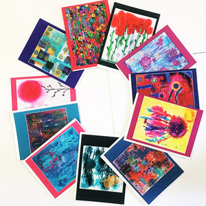 Happy Colorful Packaged Note Cards