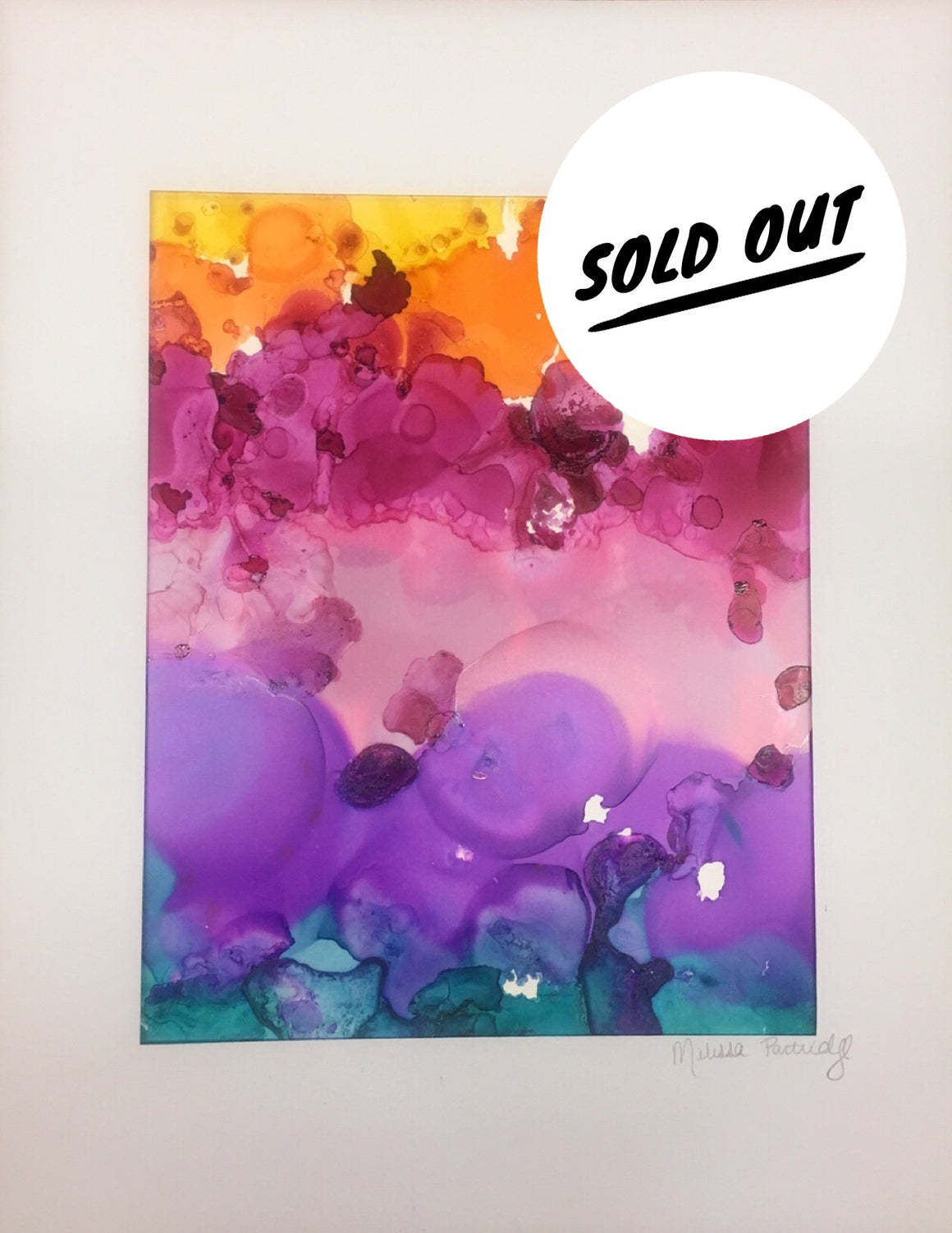 SOLD OUT Rainbow Bubbles Alcohol ink on Yupo Paper