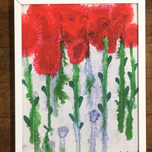 "Floral Joy 8""x10"" White Metal Frame"