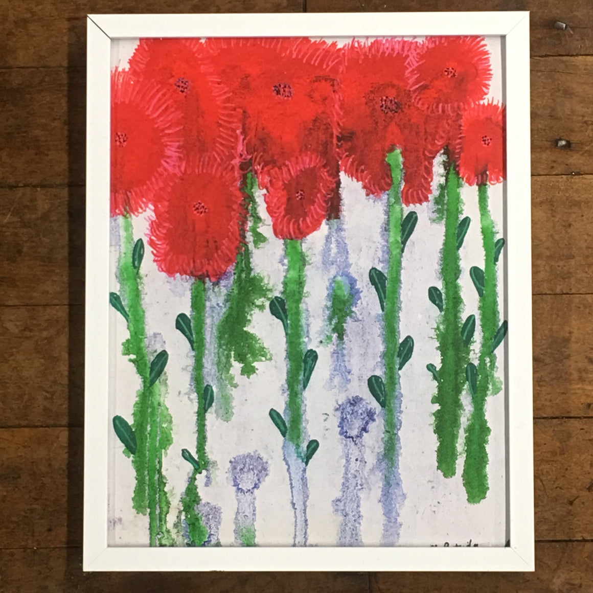 "SOLD OUT Floral Joy 8""x10"" White Metal Frame"