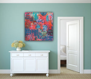ABSTRACT Color Love Original Painting, Original Art, Colorful Art, Abstract Art, Happy art