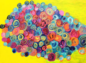 "Circle Craze Original 24""x30"" Original Painting on Canvas"