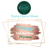 7 steps to list building by tarra flores sloan