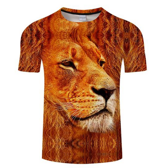Fiery Lion 3D T-Shirt