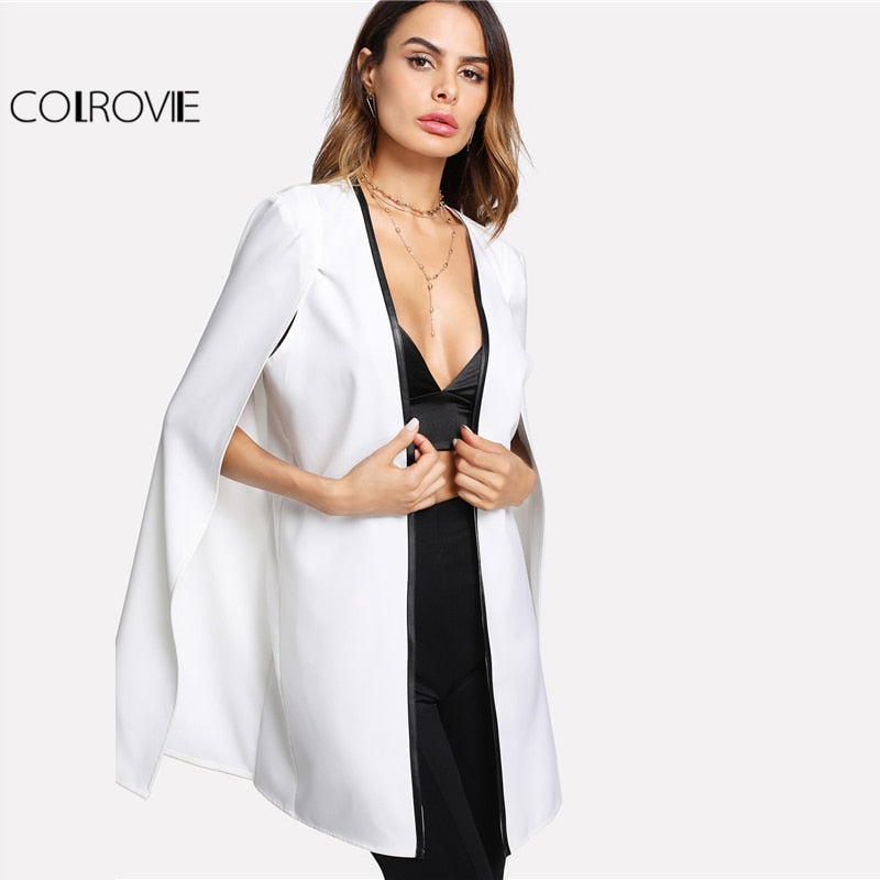 Cape Long Sleeve Blazer - Heart Entrepreneurs