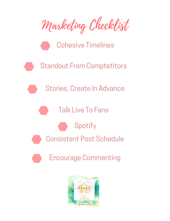 FREE Marketing Checklist by Heart Entrepreneurs