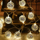String Lights Moroccan Ball 10/20LED Globe Fairy