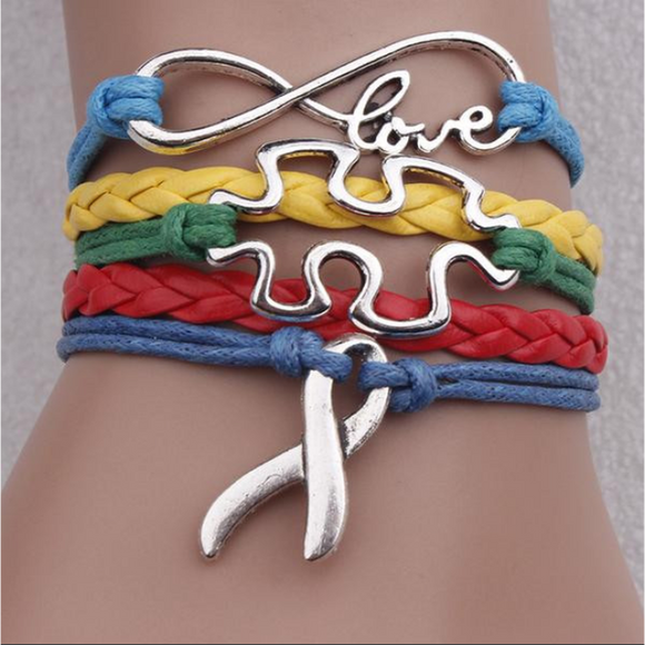 Autism Awareness Multicolor Bracelet (Shipped From USA)