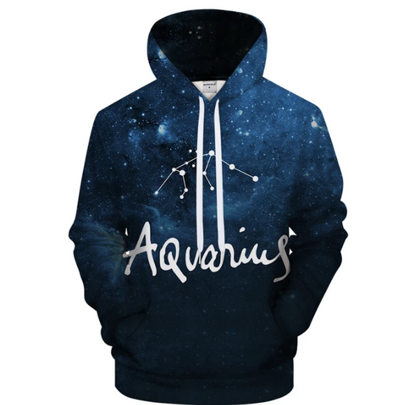 Aquarius - Jan 20 - Feb 18 3D Sweatshirt Hoodie Pullover