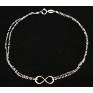 Infinity Silver Stylish Anklet (Shipped From USA) - Heart Entrepreneurs