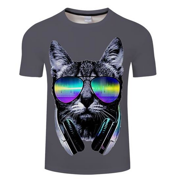DJ Cat 3D T-Shirt