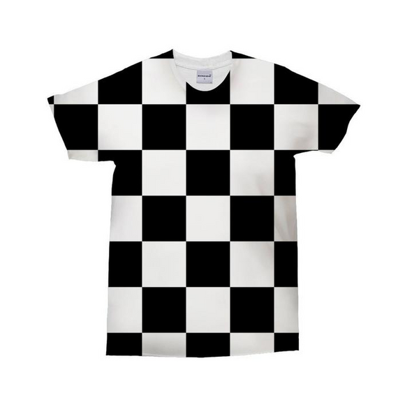 Black & White Chess Board 3D T-Shirt