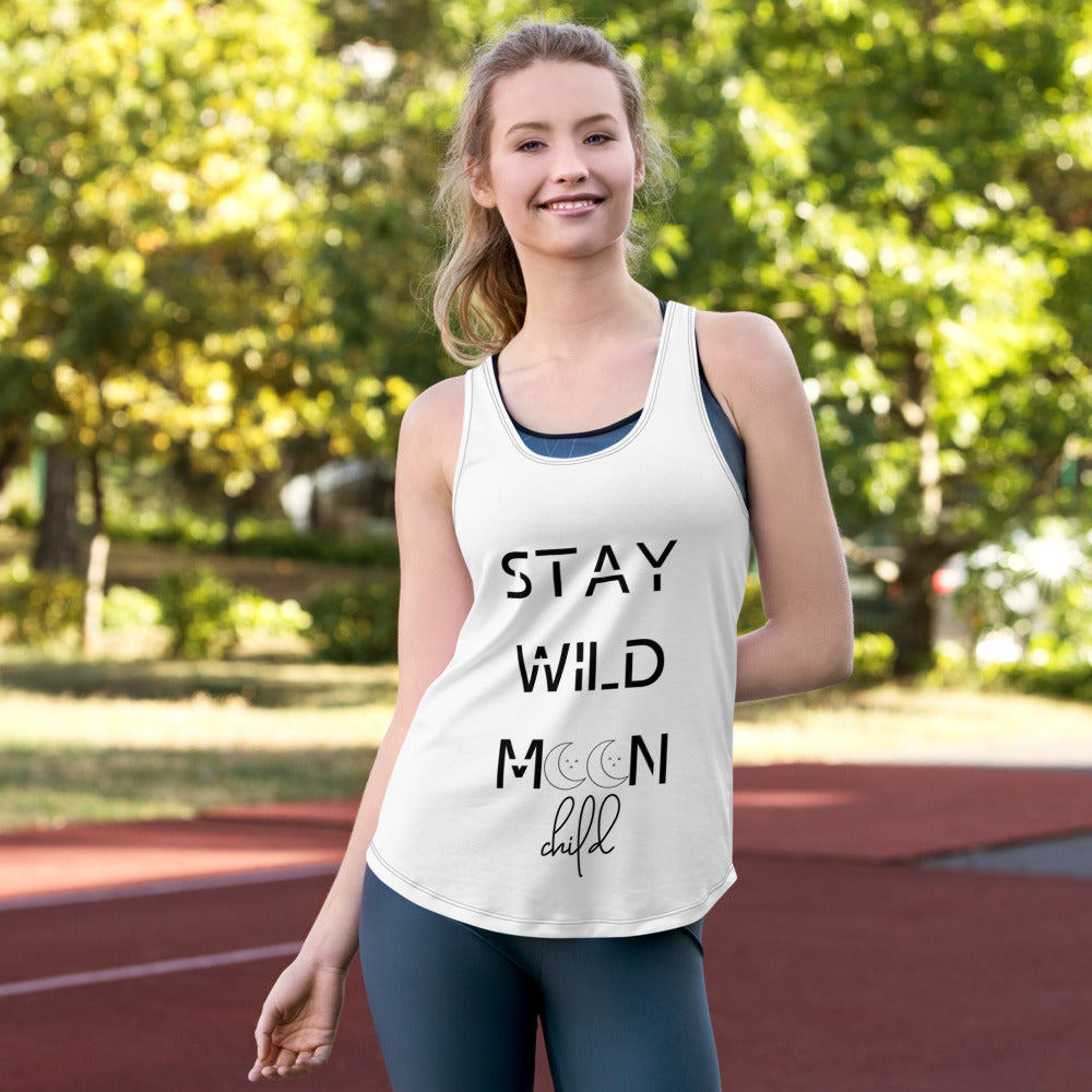 Stay wild moon child. Heart's Women's Racerback Tank - Heart Entrepreneurs