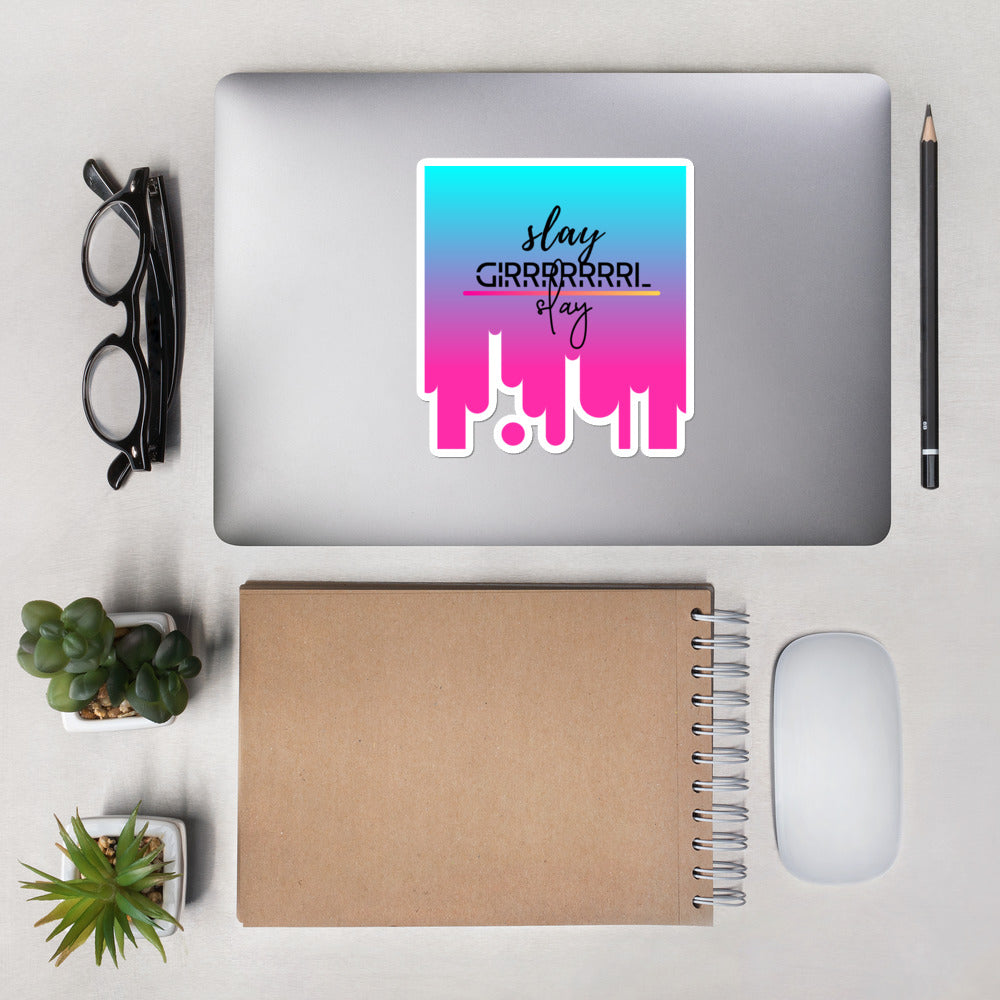 Slay girl slay. Heart's Bubble-free stickers - Heart Entrepreneurs