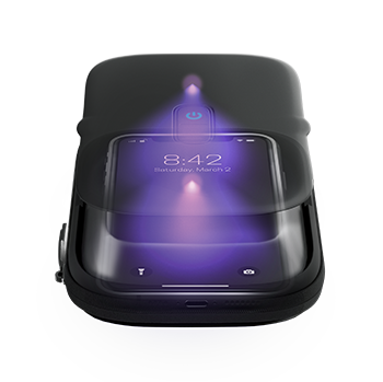 UV-C LED light sanitizes