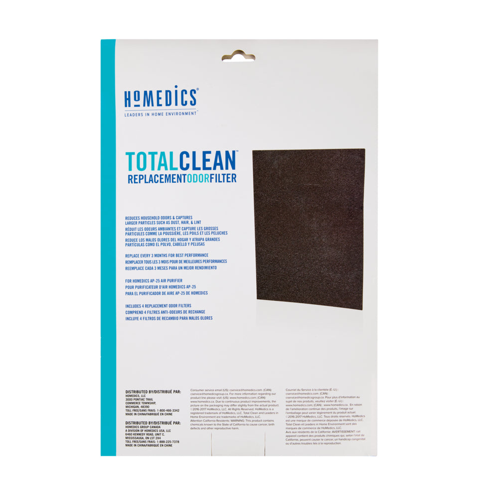 TotalClean™ Replacement Carbon Pre-Filter for AP25AU (4-pack)