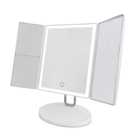 Trifold Vanity Illuminated Make Up Mirror