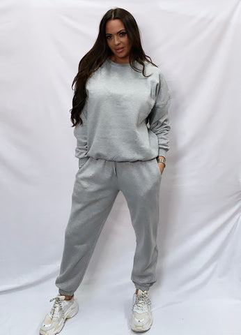 Basic Sweatshirt Tracksuit Grey