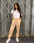 High Waisted Basic Joggers (Sand)