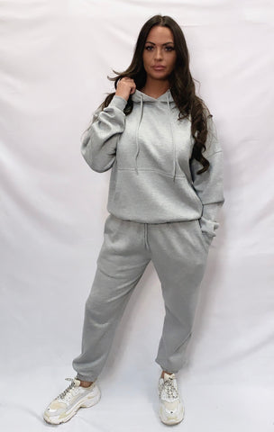 Basic Hooded Tracksuit Grey