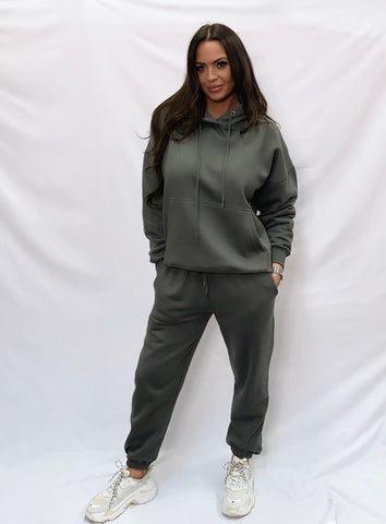 Basic Hooded Tracksuit Charcoal