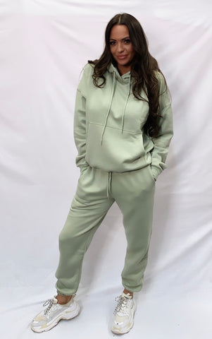 Basic Hooded Tracksuit Sage