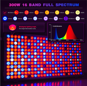 300W  Full Spectrum Grow Light Panel for Indoor Plants.