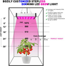 Load image into Gallery viewer, Bozily Dimmable 800 Watt Full Spectrum  Grow Light for Indoor Plants