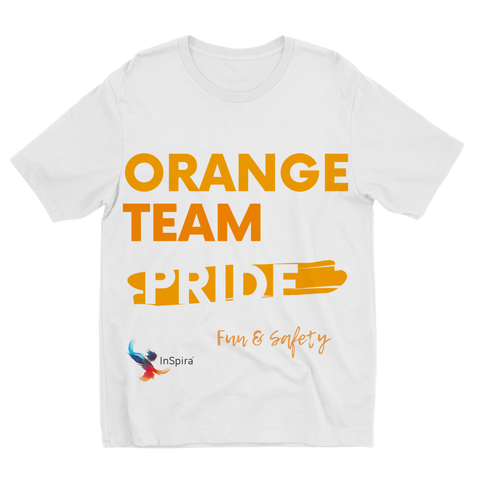 Orange Team Pride Sublimation Kids T-Shirt