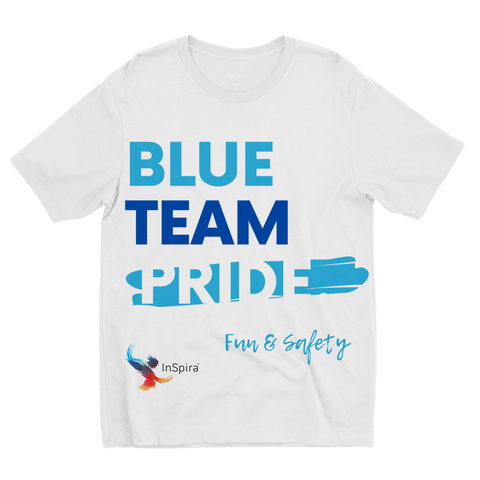 Blue Team Pride Sublimation Kids T-Shirt