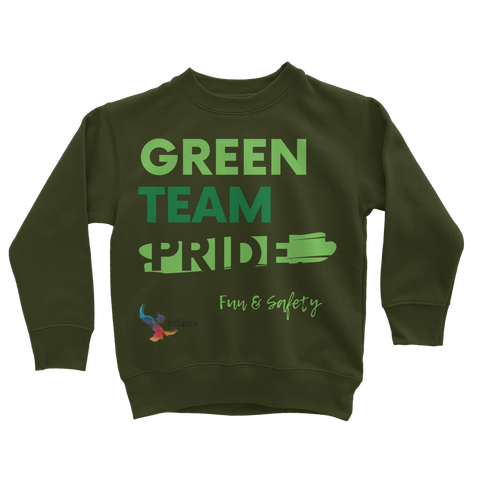 Green Team Classic Kids Sweatshirt