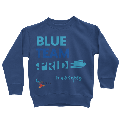 Blue Team Pride Classic Kids Sweatshirt