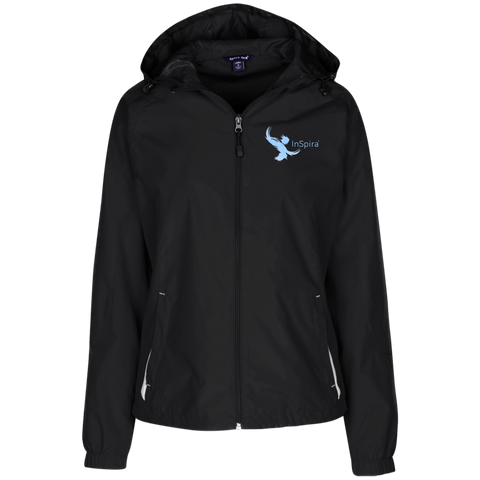 LST76 Sport-Tek Ladies' Jersey-Lined Hooded Windbreaker