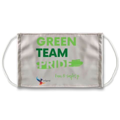 Green Team Sublimation Face Mask